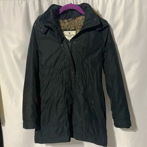 Abercrombie Kids girls black coat size 11/12